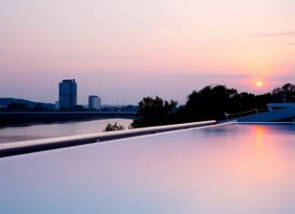 Kameha Spa Bonn - Powerhouse - Kameha Grand Hotel Bonn - Am Bonner Bogen 1 - Luxus- und First-Class Hotel - Infinity Pool - Sport- und Fitness - DaySpa - Sonnenuntergang - Sunset