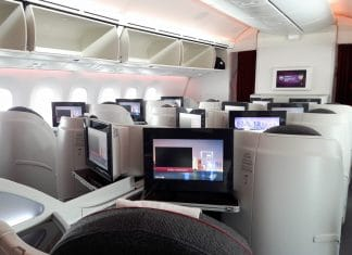 Qatar Airways Business Class Boeing Dreamliner 787-8 - München-Doha QR058 QR060 - Aviation-Blogger - Reiseblog - Reiseblogger - Flugbericht - Kabine - Vielflieger