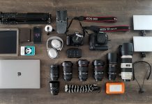 Fotoausrüstung und Videoausrüstung für Blogger und YouTuber - What it is my bag - MacBook Pro - Laptop, Smartphone, Tablet - 360° Camera