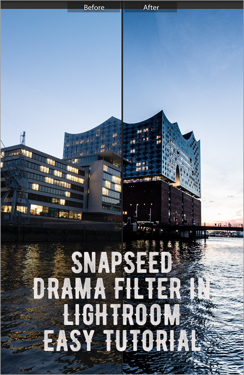 Snapseed Drama Filter in Lightroom nutzen - Easy Tutorial - Settings - Einstellungen - Schnelle Lösung