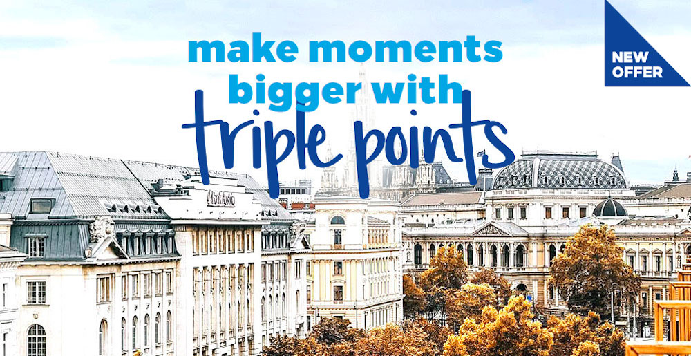 Make moments bigger with 3x points