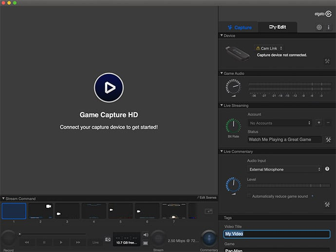 Elgato Cam Link USB Stick - Streaming Session für Gaming Portale und YouTube, Twitch
