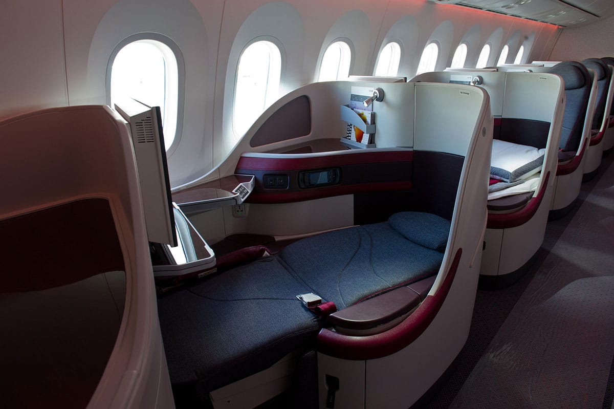 Qatar-Airways Inaugural Flight QR994 Doha to Da Nang - Business Class - Lounge Review - Erfahrung an Bord